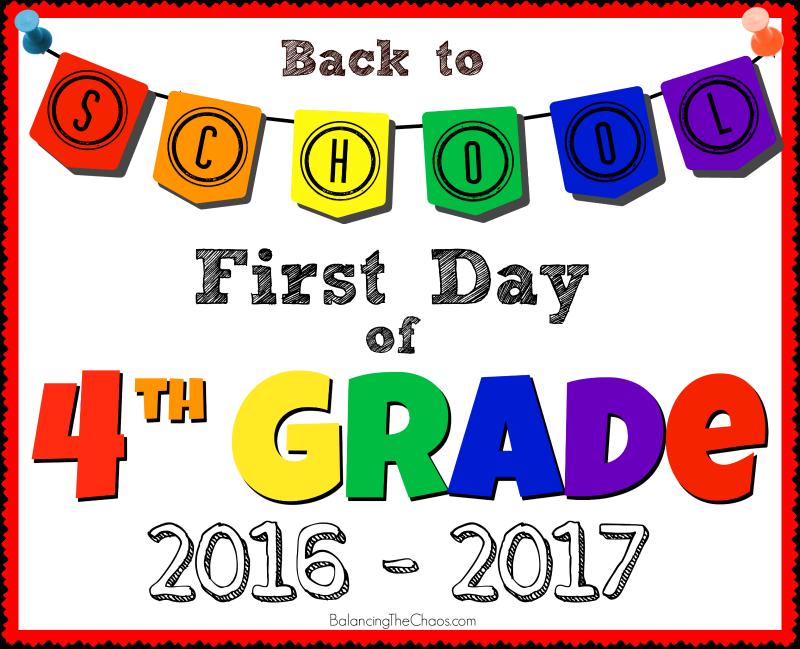 4TH GRADE BACK TO SCHOOL FREE PRINTABLE