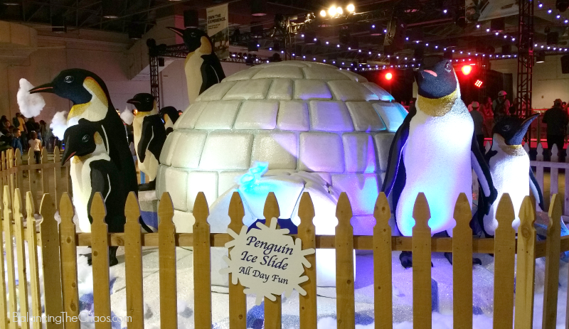 LA County Fair Penguin Ice Slide Igloo