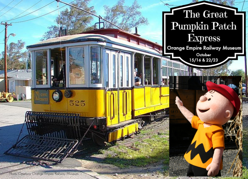 The Great Pumpkin Express at Orange Empire Railway Museum