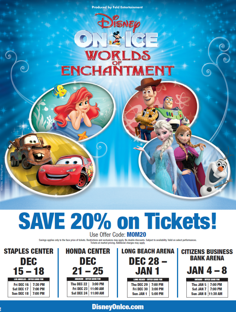 Disney on Ice Worlds of Enchantement Mom Discount Flyer
