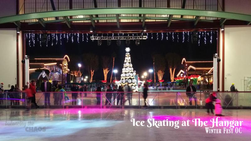 Ice Skating The Hangar WinterFestOC