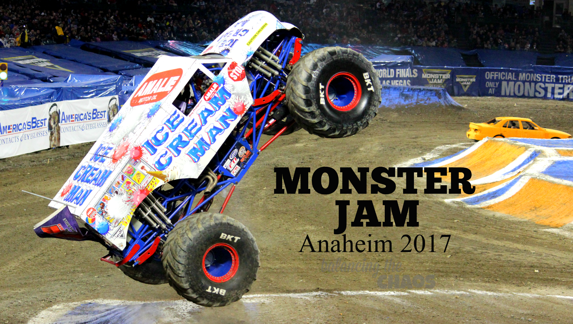 Monster Jam Anaheim 2017 Ice Cream Man Pit Party