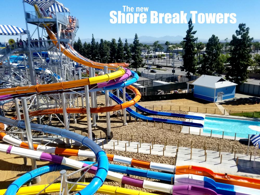 The New Shore Break Towers at Knotts Soak City