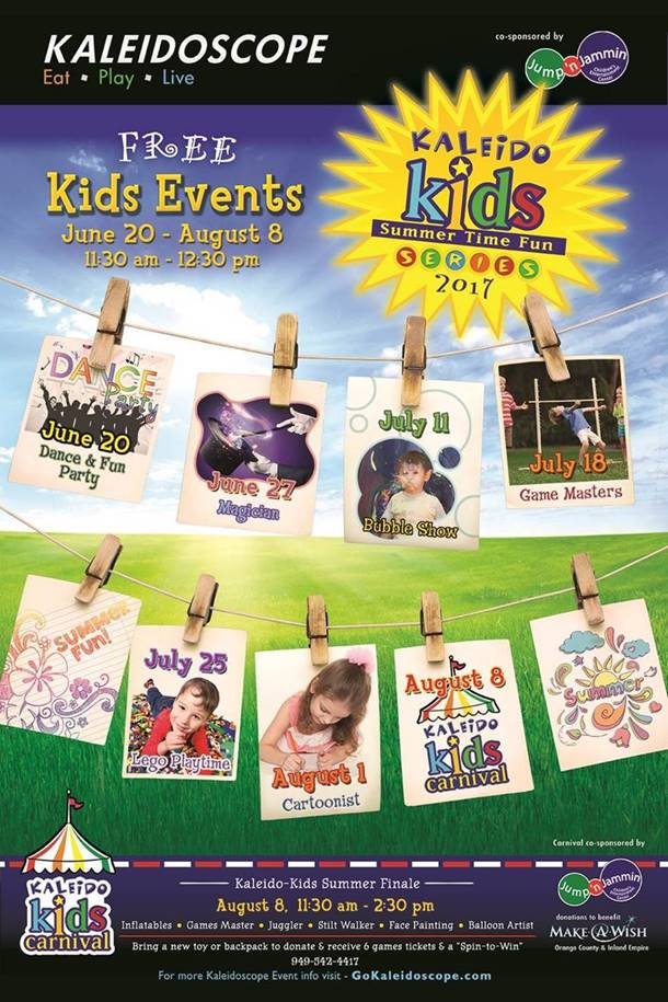 Free Summer Kids Events Mission Viejo Kaleidoscope