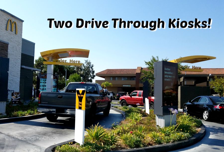 McDonalds Southern California Two Drive Through Kiosks at select locations