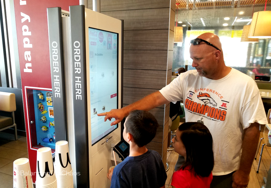 Southern California McDonalds Self Order Kiosks