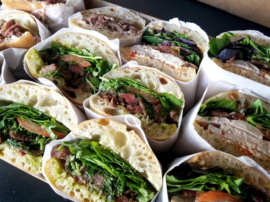 Stacked Sandwich Platters