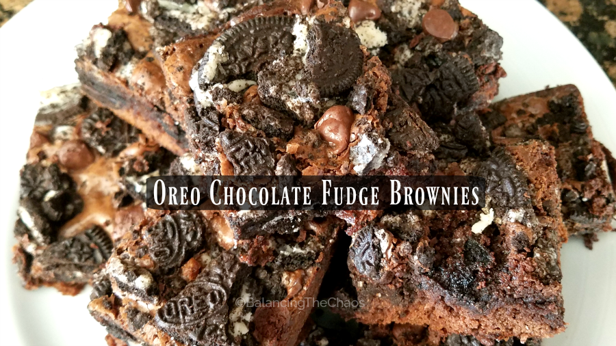 Oreo Chocolate Fudge Brownies