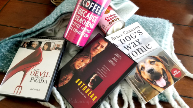 Wellness Basket movies books and scarf