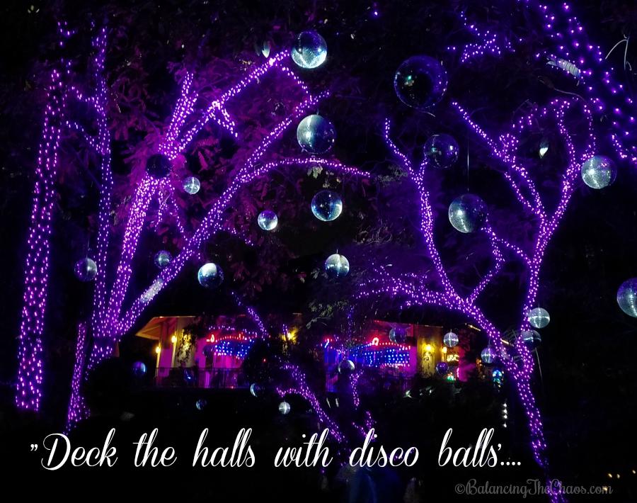 Deck The Halls with Disco Balls LA Zoo Lights