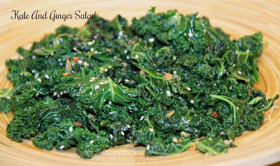 Kale and Ginger Salad with Chef Katie Chin Ling Ling
