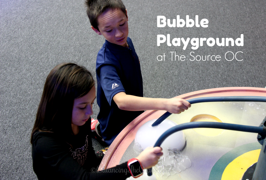 create bubbles at the source oc