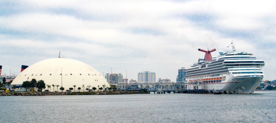 Carnival Splendor at Long Beach Terminal 2-10-18