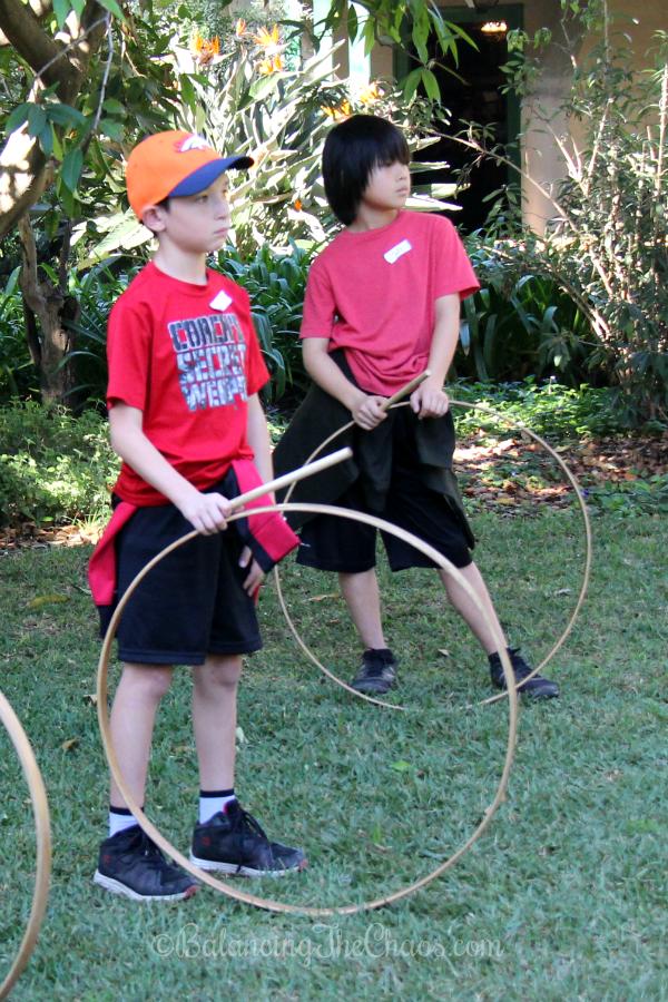 Childrens games at Rancho Los Cerritos
