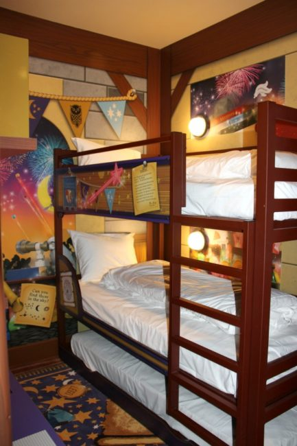 Children's Sleeping Area Magic Wizard Room at Legoland Castle Hotel