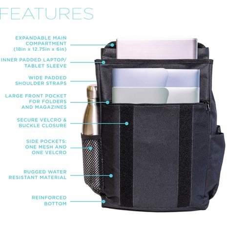 Features of the Boldface backpack