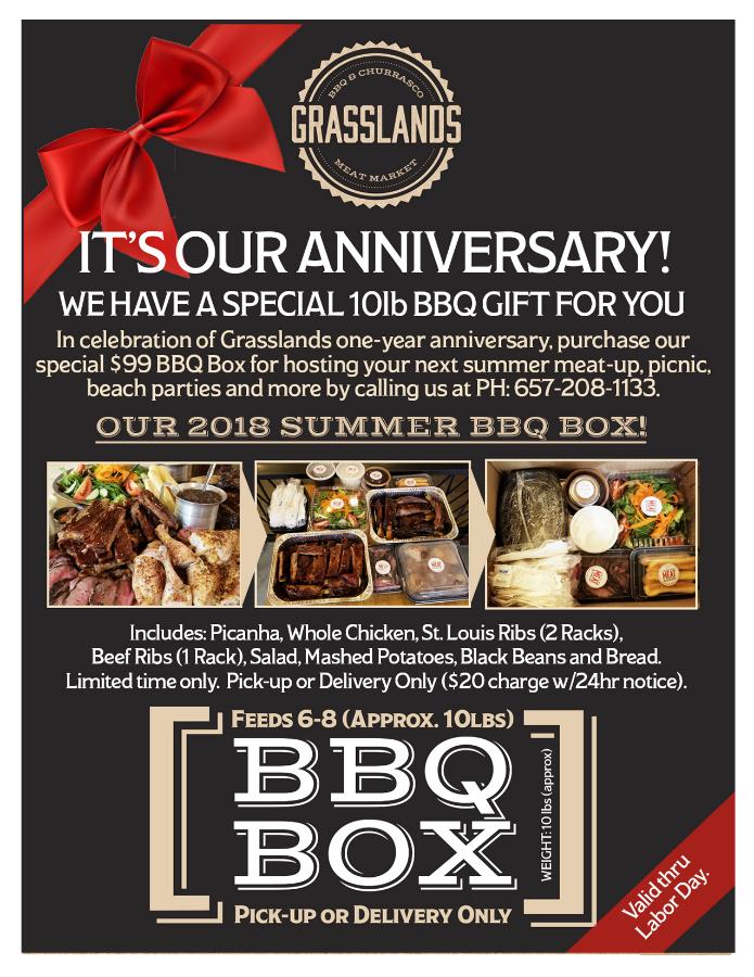 Grasslands July 2018 BBQ Box Deal