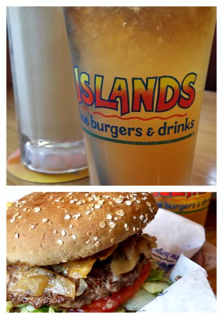 Islands Mai Tai French Onion Burger