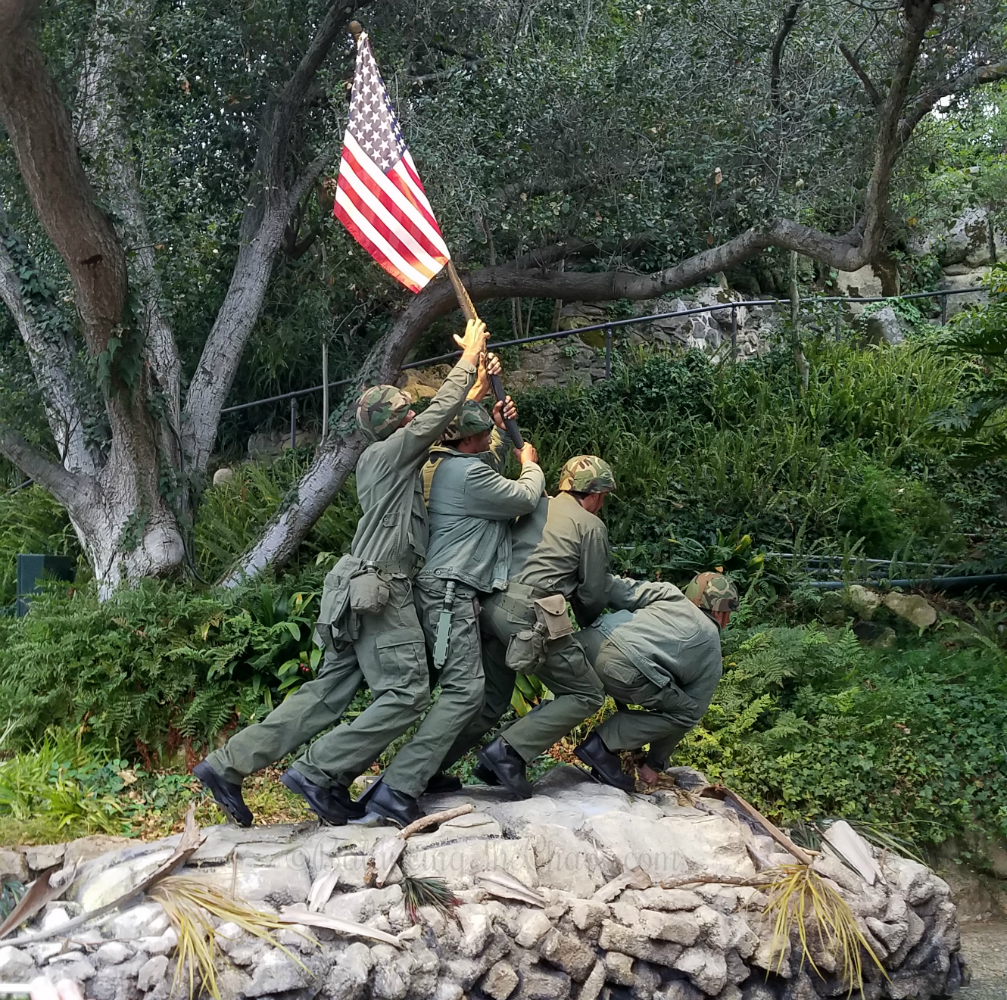Raising The Flag at Iwo Jima Pagent of the Masters