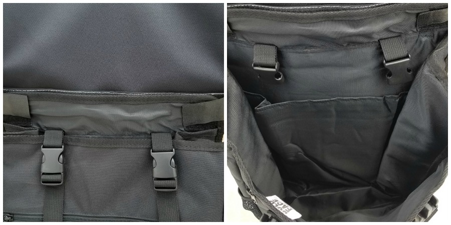 boldface backpack panel and storage