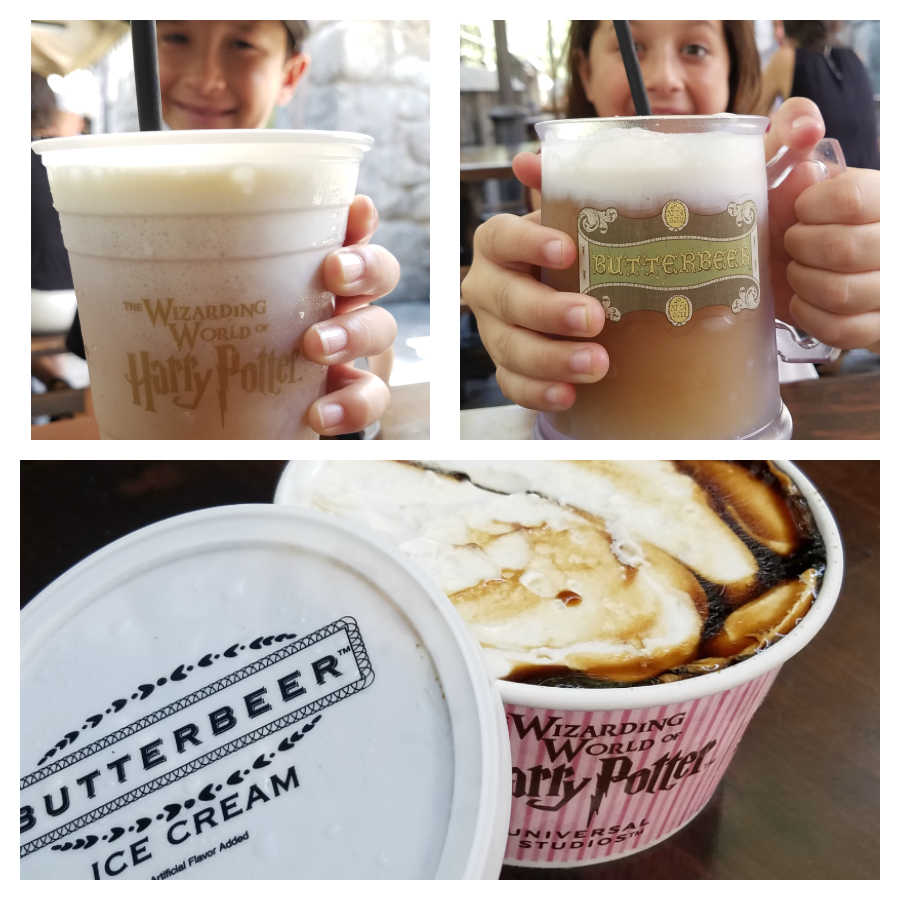 All sorts of Butterbeer at the Wizarding World of Harry Potter