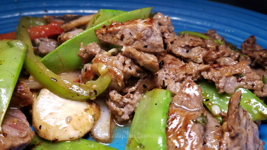 Beef fajitas at FiRE and iCE Grill and Bar