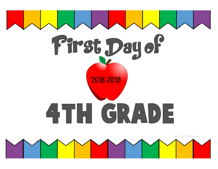 First Day of 4th Grade 2018 2019
