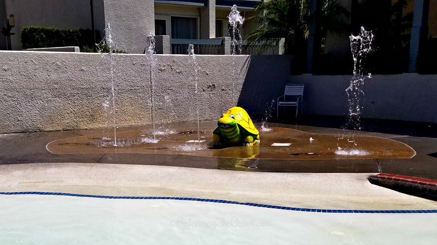 Turtle Splashpad at Castaway Cove at The Howard Johnson Anaheim Hotel & Water Playground