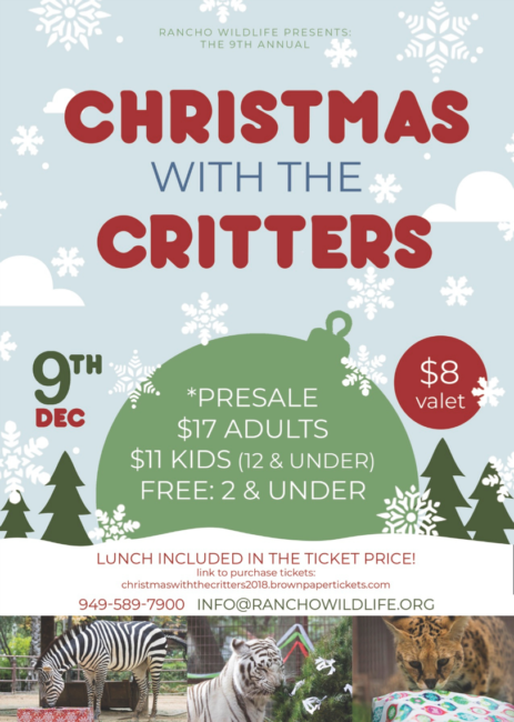 Christmas with the Critters - Rancho Wild Life