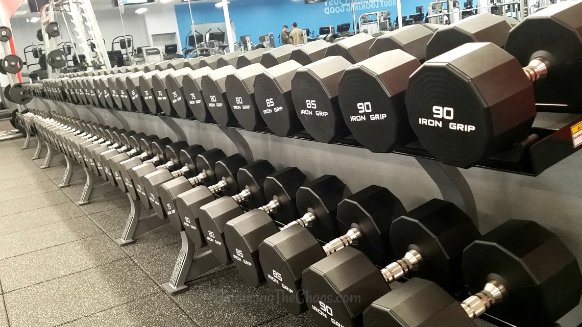 Iron Grip Weights at Blink Fitness Anaheim