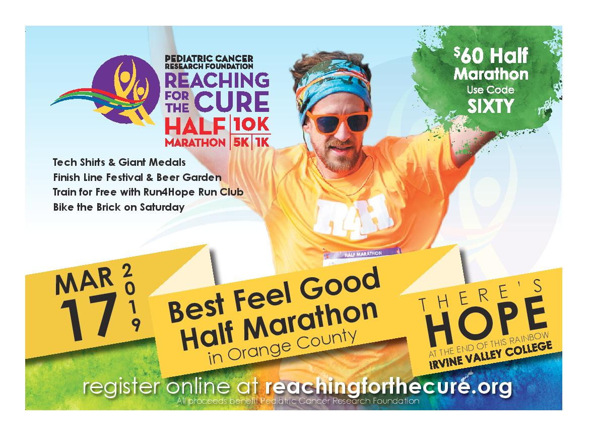 21st Annual Reaching for the Cure Half Marathon March 17th