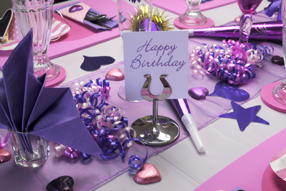 Purple Themed Party Shutterstock ID: 137993222 By Milleflore Images