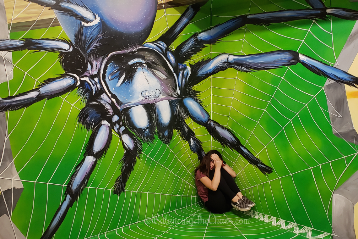 Giant Spider at the Museum of Illusion in Los Angeles