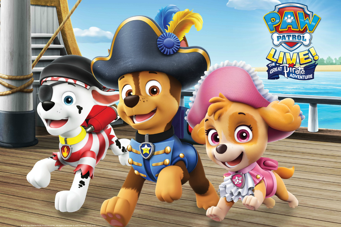 Paw Patrol Live is coming to Fox Riverside Live April 9th and 10th