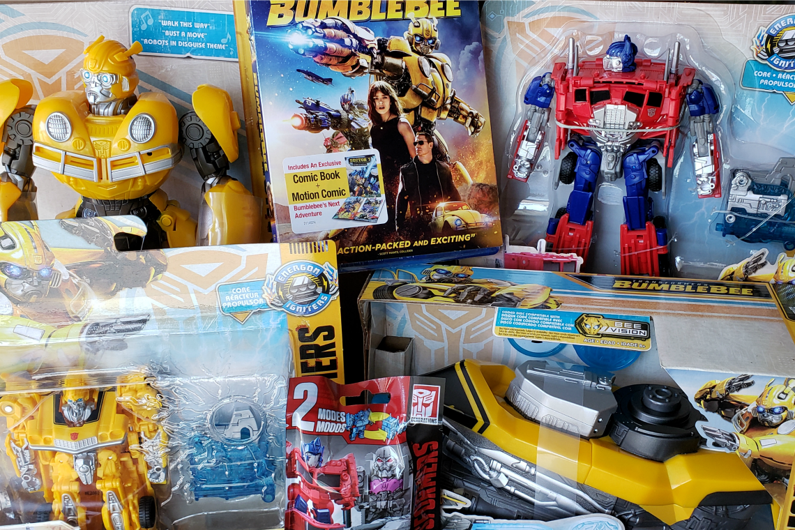 Bumblebee BluRay and Transformer Toys