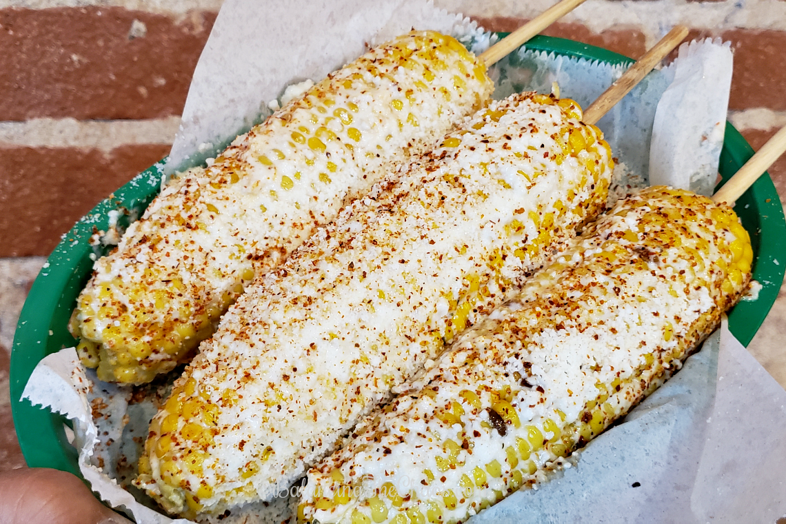 Elote Corn on the Cob at The Taco Stand Orange