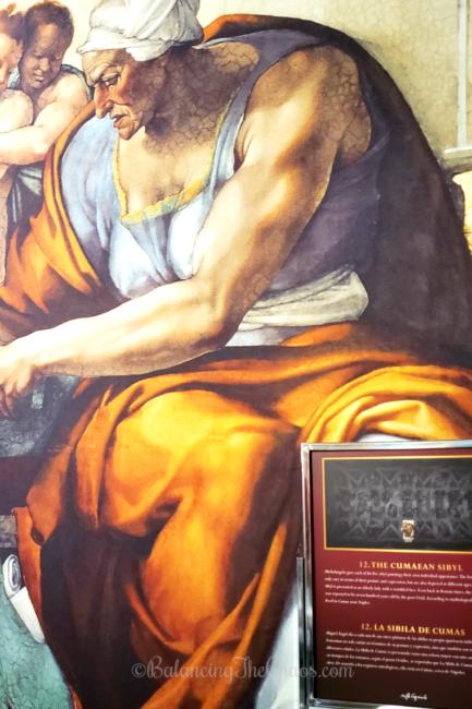 The Cumaean Sybil at the Michealangelo's Sistine Chapel Exhibit