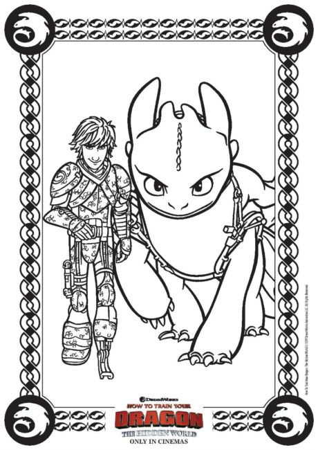 How To Train Your Dragon The Hidden World FREE Coloring Page FREE printable