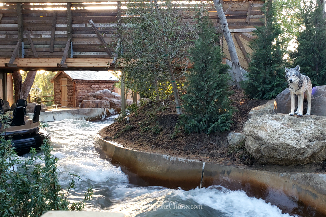 white water rapid ride at Knott's Berry Farm