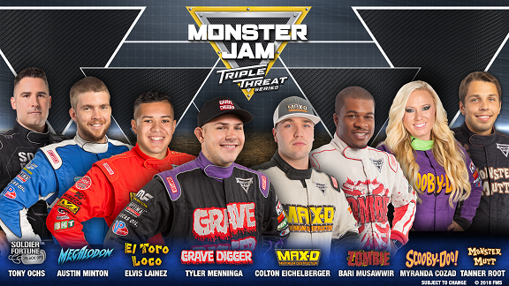 Monster Jam Triple Threat Drivers