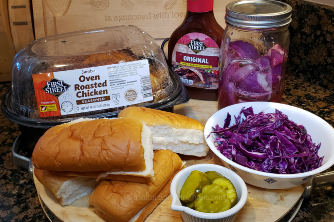 Easy BBQ Pulled Chicken Sandwich Ingredients