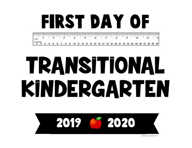 First day of Transitional Kindergarten