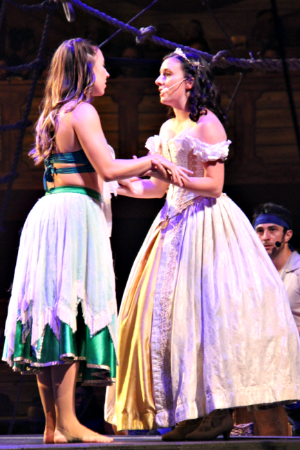 The Princess and Mermaid, new characters at Pirates Dinner Adventure Buena Park
