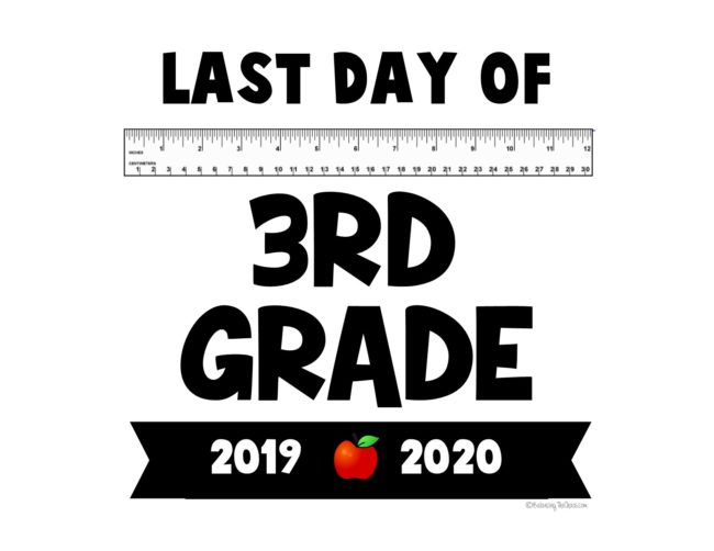 last day of 3rd grade free printable 2020 last day of 3rd grade
