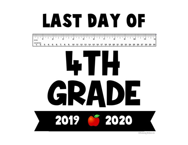 2020 last day of school  free printables free 4th grade last day of school printable