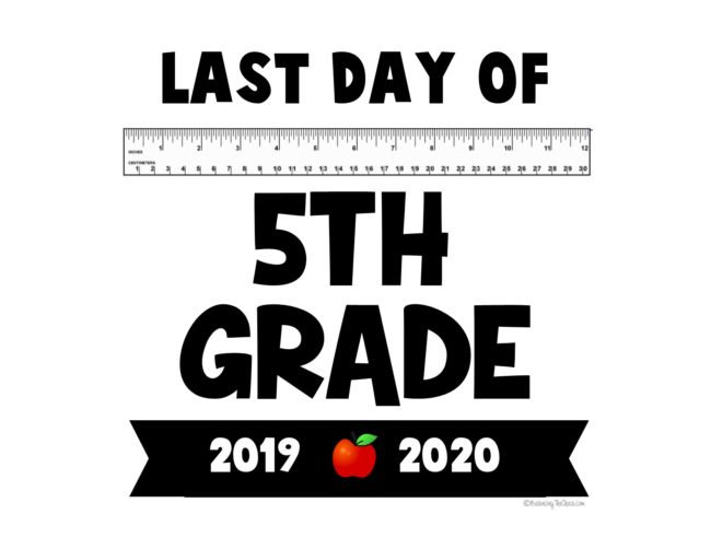 2020 last day of school  free printables free 5th grade last day of school printable
