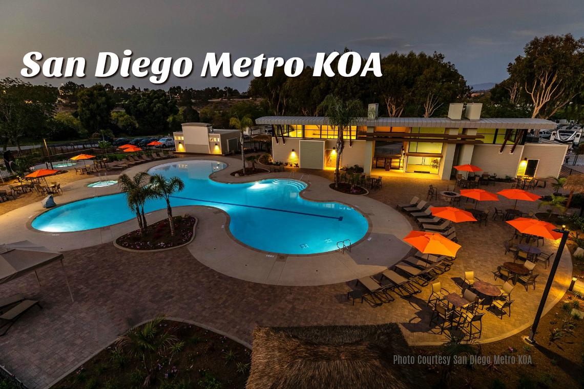 San Diego Metro KOA Resort RV Tent Camping