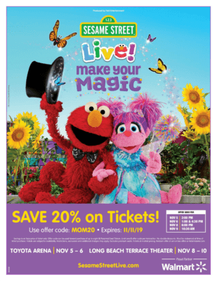 Sesame Street Live Make Your Magic Discount Code