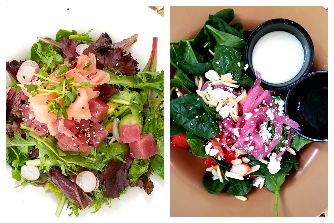 Poke and Watermelon Salads at Glen Ivy Hot Springs
