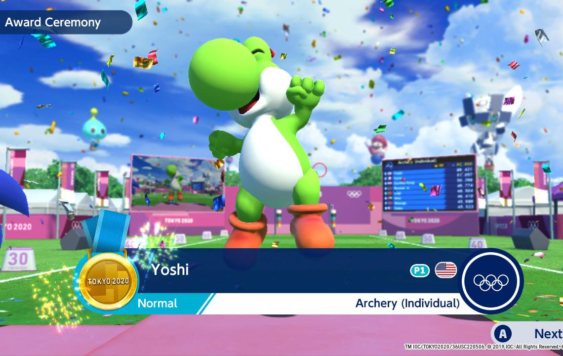 Sega Mario & Sonic at the Olympic Games Tokyo 2020.
